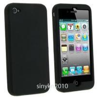 Buy cheap Black Soft Silicone Gel Cover Case for iPhone 4 4G 4th from wholesalers