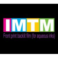 Front print backlit film (for aqueous inks)