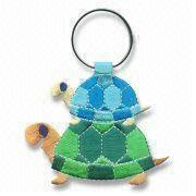 Buy cheap RK00271 Turtle Embroidered Keyring Emblems, Available in Various Designs and Sizes from wholesalers