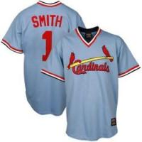 Buy cheap Home :: MLB JERSEYS :: St. Louis Cardinals ::  #1 Ozzie Smith Light Blue Throwback mlb Jerseys product