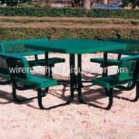 Buy cheap Green PVC Coated Expanded Metal Mesh Chairs from wholesalers