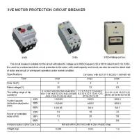 Buy cheap Moulded Case Circuit Breaker 3VE Motor Protection Circuit Breaker from wholesalers