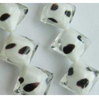 Buy cheap Glass Beads Cube Glass Bead with Inside Colors from wholesalers