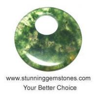 Buy cheap Wholesale Natural Moss Agate Donuts (from 50mm to 55mm),  A+ Grade, per pcs product