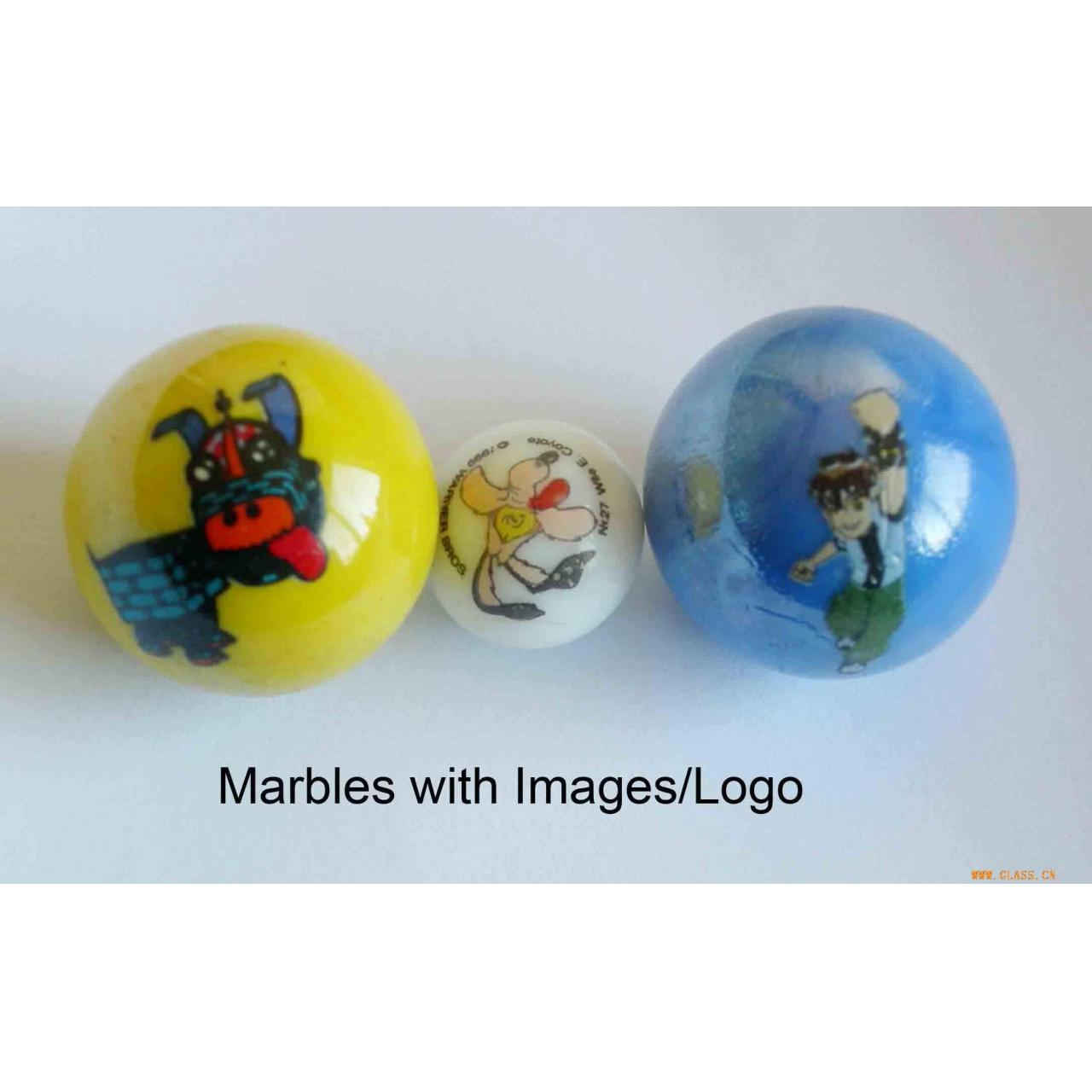 Buy cheap Glasswork glass marble with printing product