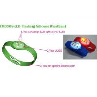Buy cheap TM0508-LED Flashing silicone wristband from wholesalers