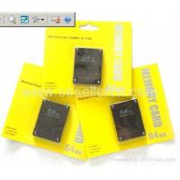 Buy cheap 8M/ 16M/ 32M/ 64M Memory card for PS2 from wholesalers