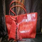 Buy cheap View Details Pretty Romantic Red Snakeskin Handbag Purse from wholesalers