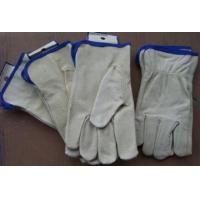 Buy cheap Pigskin leather gloves HGG008  Pigskin leather gloves from wholesalers