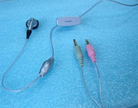 Quality skype earphonet  S1 (silver) for sale