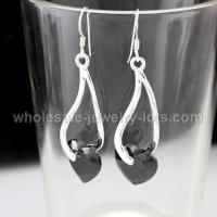 Buy cheap Black CZ Earrings wholesale from wholesalers