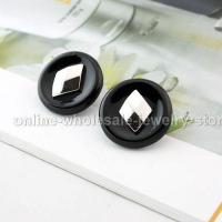 Buy cheap Fashion Black Round Earrings Wholesale from wholesalers