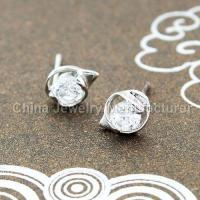 Buy cheap 925 sterling silver stud earrings for girls from wholesalers