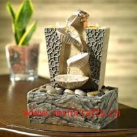 Buy cheap Resin Tabletop Fountain with Candle Holder from wholesalers
