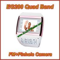 Buy cheap EG200 Quad Band FM Pinhole Camera Watch Mobile Phone product