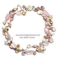 Buy cheap Wholesale Natural Keshi Pearl&Rose Quartz Necklace from wholesalers