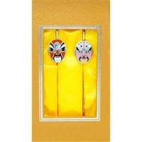 Buy cheap High quality masks of Peking opera metal bookmark,book clip for gift from wholesalers