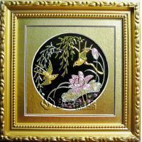 Embroidery Craft-Gold Thread Birds