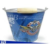 Buy cheap 5QT Ice Bucket Metal Pail with Wooden ... from wholesalers