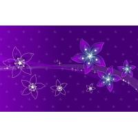 Buy cheap Abstract Violet Flowers Design from wholesalers