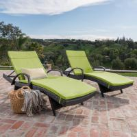 Buy cheap Rattan Furniture Outdoor Wicker Chaise Lounger Arms Cushion from wholesalers