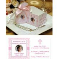 Buy cheap First Holy Communion Favors Communion Remembrance Prayer Card with Rosary in Organza Bag Favors from wholesalers