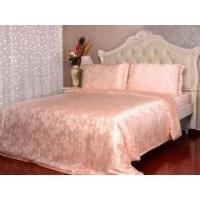 Buy cheap 3pcs 19 Momme 100% Pure Silk Fitted Sheet Pillow Cases Bed Linen Set With Seam from wholesalers