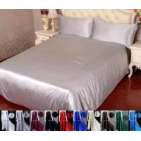 Buy cheap 4pcs 40 Momme 100% Pure Silk Duvet Cover Flat Sheet Pillowcase Bed Linen Set With Seam from wholesalers