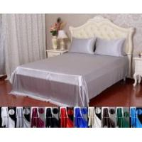 Buy cheap 3pc 40 Momme 100% Pure Silk Top Flat Sheet Pillowcase Bed Linen Set With Seam from wholesalers