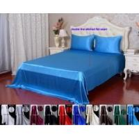 Buy cheap 4pcs 40 Momme 100% Pure Silk Flat Fitted Sheet Pillowcase Bed Linen Set With Seam from wholesalers