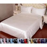 Buy cheap 4pcs 30 Momme 100% Pure Silk Duvet Cover Flat Sheet Pillowcase Bed Linen Set With Seam from wholesalers