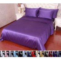Buy cheap 4pcs 30 Momme 100% Pure Silk Duvet Cover Fitted Sheet Pillowcase Bed Linen Set With Seam from wholesalers
