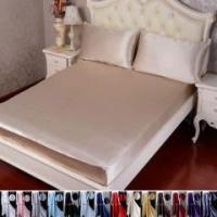 Buy cheap 3pcs 30 Momme 100% Pure Silk Fitted Sheet Pillow Cases Bed Linen Set With Seam from wholesalers