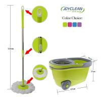 Joyclean Walkable Spin Mop with Detergent Bottle and Water Outfall Mechanism