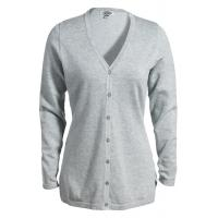 Buy cheap Ladies' V-Neck Fine Gauge Long Cardigan Sweater from wholesalers
