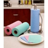 Buy cheap HV70 Kitchen Cleaning Cloth Roll Spunlace Nonwoven Fabric Factory from wholesalers