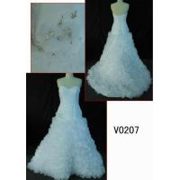 Buy cheap V0207 2013 newest hot sell organza wedding dress with ruffles in skirt from wholesalers