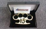 Buy cheap ALL KNUCKLES 'Lucky 13' - Custom Made Brass Knuckles from wholesalers