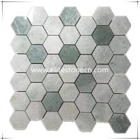 Buy cheap ES-R02 Ming Green Marble Hexagon Floor mosaics Tile from wholesalers