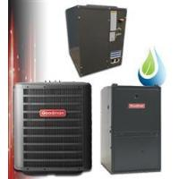 Buy cheap 1.5 Ton Goodman 14.5 SEER 96% Dual Fuel Heat Pump System GSZ140181, Furnace, Cased Coil, TXV from wholesalers