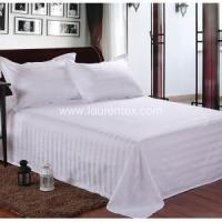 Buy cheap Hotel Bed Linen Poly/Cotton60/40 250TC White Color Bed Sheet Set from wholesalers