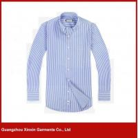 Buy cheap Blue and white stripe italy slim fit stylish casual shirts (S77) from wholesalers