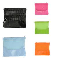 Buy cheap Custom Women Cosmetic Bags Ladies Travel Makeup Organizer PVC Mesh Pouch from wholesalers