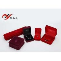 Buy cheap OEM / ODM Velvet Jewelry Box Set Reusable Size Customized Pendant Display Box from wholesalers