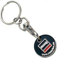 Buy cheap Black Enamel Metal Keychain of Trolley Token Coins from wholesalers