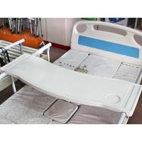 Buy cheap ABS Overbed Table/Curved dining table Fixed On Side Rail from wholesalers