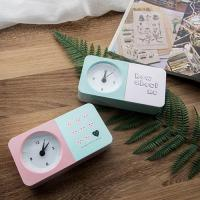 Buy cheap Clock Creative Pink Heartbeat Pen Holder Carton Colorful Alarm Clock from wholesalers