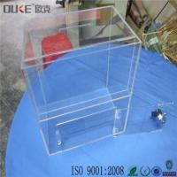 Buy cheap Personalized Small Acrylic Ballot Boxes Suggestion Boxes with Lock from wholesalers