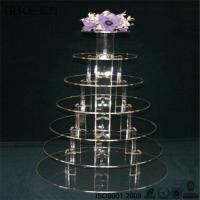 Buy cheap Elegant Crystal 6 Tiers Perspex Acrylic Cupcake Stands from wholesalers