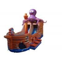 Buy cheap Brown Octopus Inflatable Assault Course Ship , Blow Up Obstacle Course With Slide from wholesalers